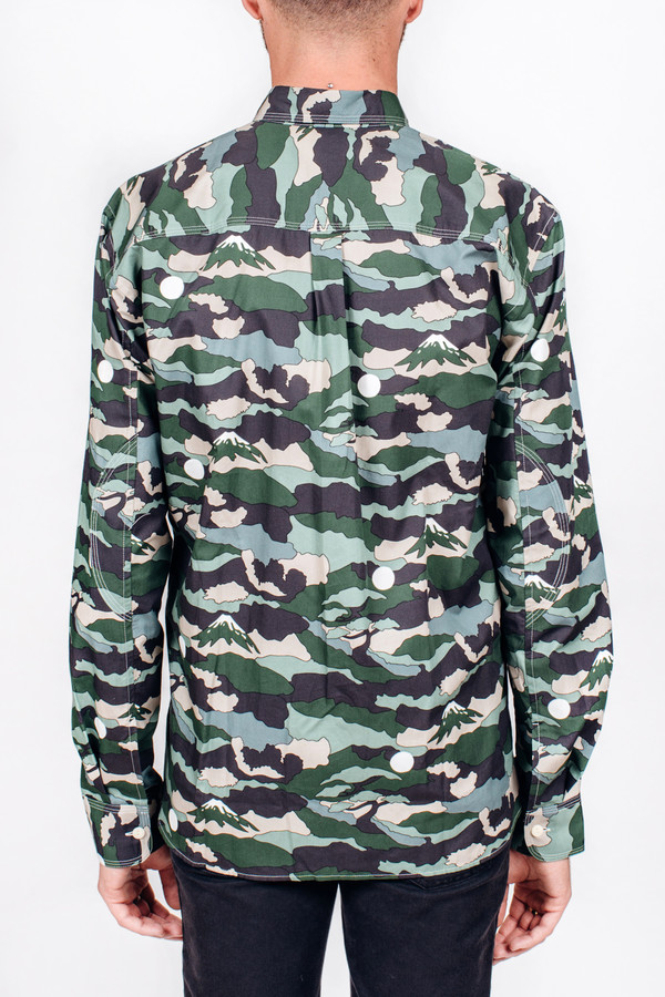 Men's Maison Kitsune Landscape Military Shirt
