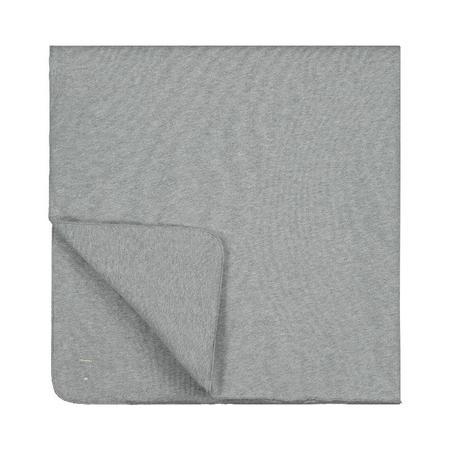 kids gray label blanket - grey melange