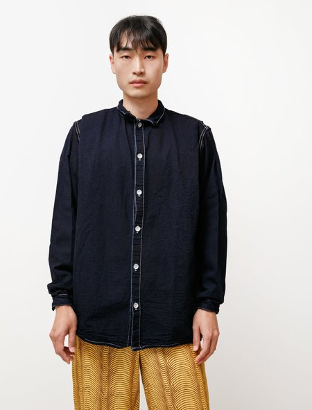 Tender 473 Sack Shirt in Tote Cloth Rinse Washed - Double Indigo