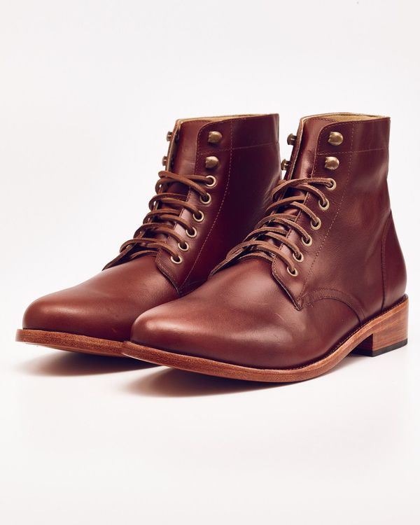Nisolo Lockwood Trench Boot Brandy 5 for 5