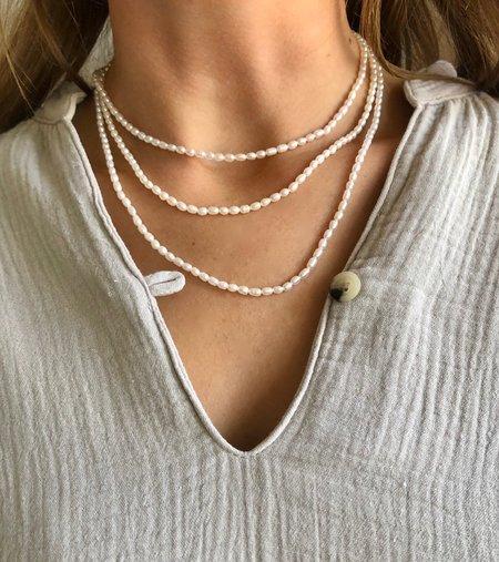 Machete Rice Pearl Necklace - Pearl