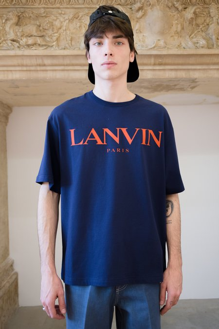 Lanvin Skate T-Shirt - Navy Blue