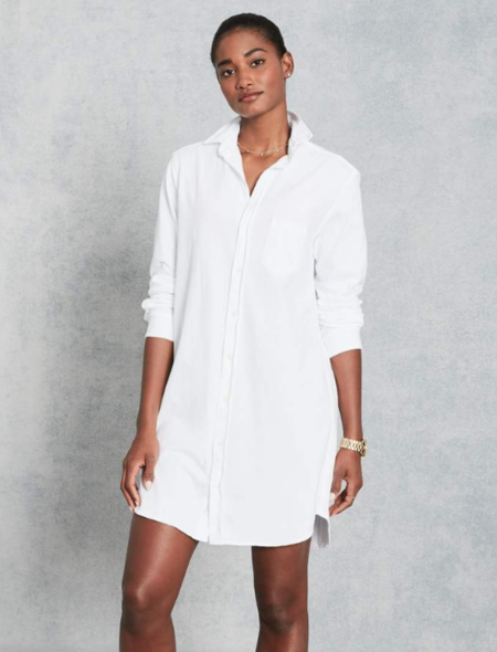 Frank & Eileen Mary Jersey Dress - WHITE