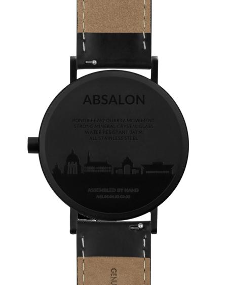 Larsen & Eriksen Reloj Absalon 37mm Watch - Black White