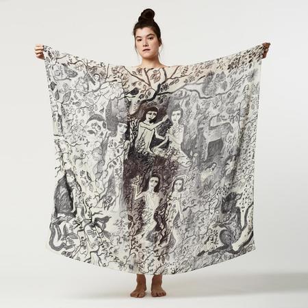 Olivia Wendel A Gathering Scarf - Black/white
