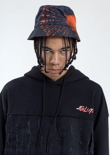 Salute Graffiti Bucket Hat - Black/Orange