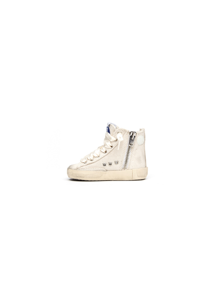 Golden Goose kids Leather and cotton sneakers