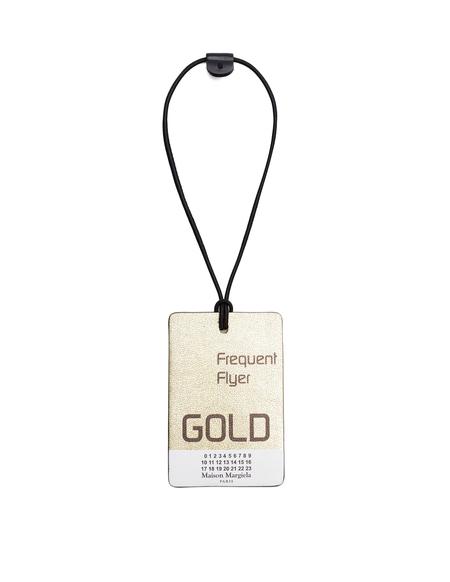 Maison Margiela Flyer Luggage Tag - Gold