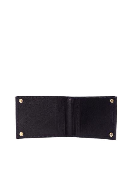 Ugo Cacciatori Grained Leather Buttons Cardholder - Black
