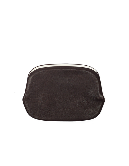 Hender Scheme Leather Snap Purse - Dark Brown
