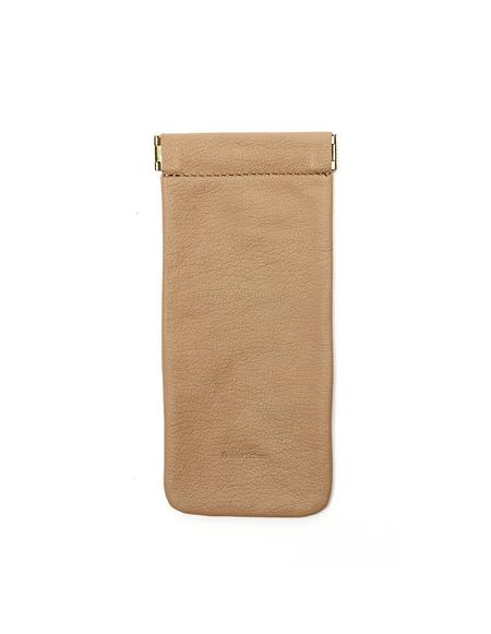 Hender Scheme Leather Soft Glasses Case - Beige