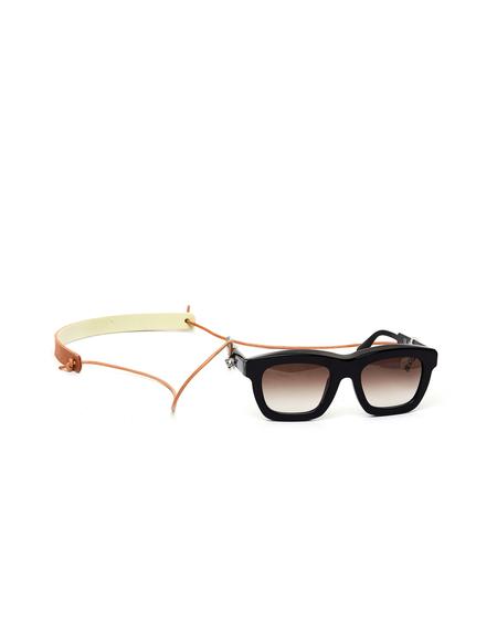 Hender Scheme Leather Glasses Cord - White