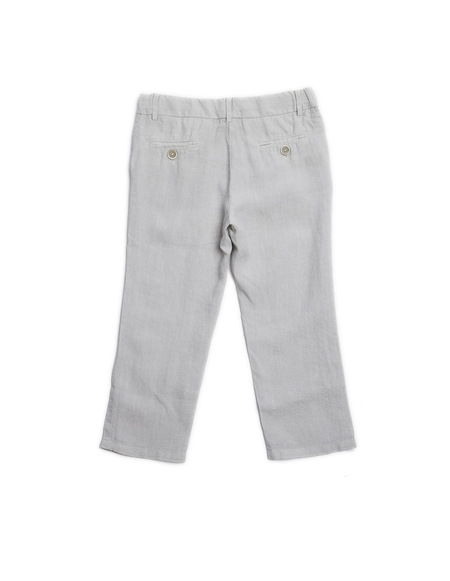 Lino Kids Linen Trousers - Grey