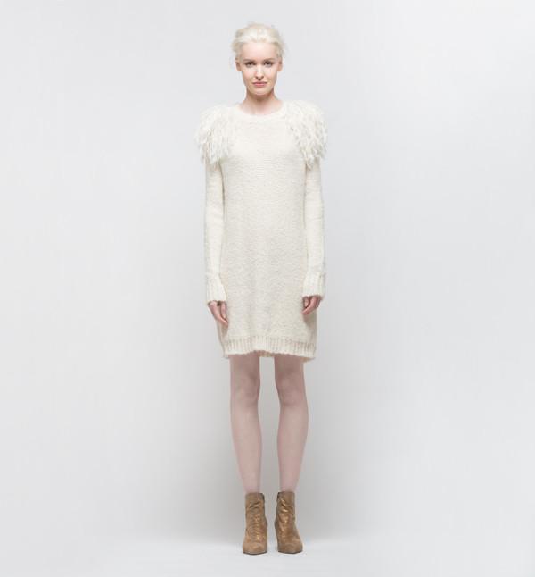 Laura Siegel Sweater Dress Ivory
