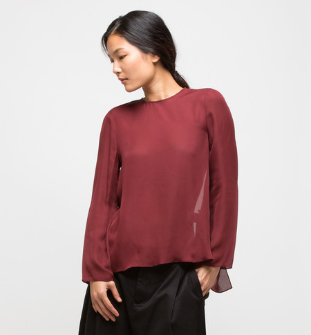Ryan Roche Tie-Back Top Maroon