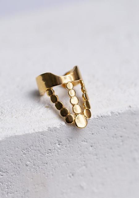 Aziza Fidda Ring - Gold Vermeil
