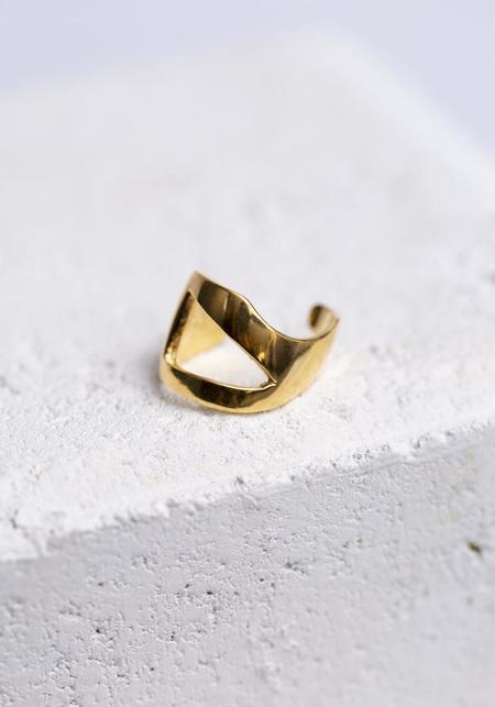 Aziza Nazil Cuticle Ring - Gold Vermeil