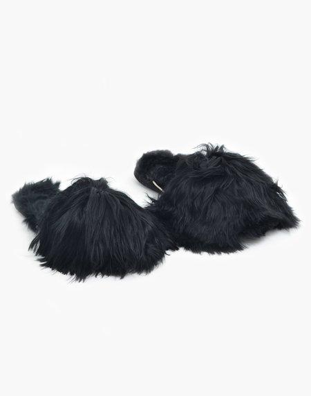 Ariana Bohling Suri Alpaca Slipper - Black