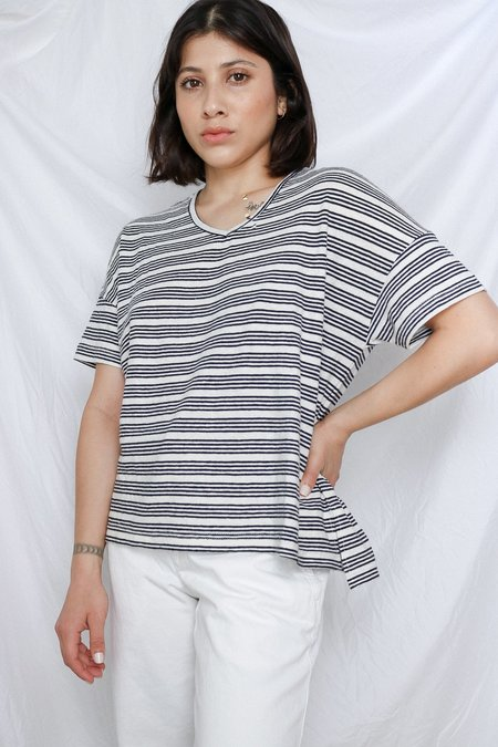 Orejas Striped V-Neck Tee