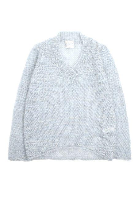 Forte Forte Mohair V Neck Sweater - Celeste