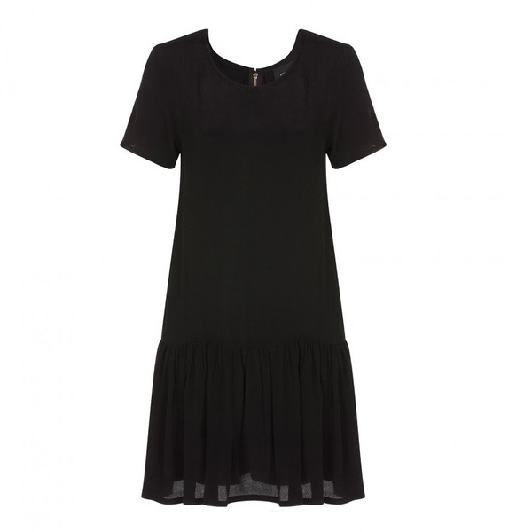 Mink Pink Drop Waist Black Dress