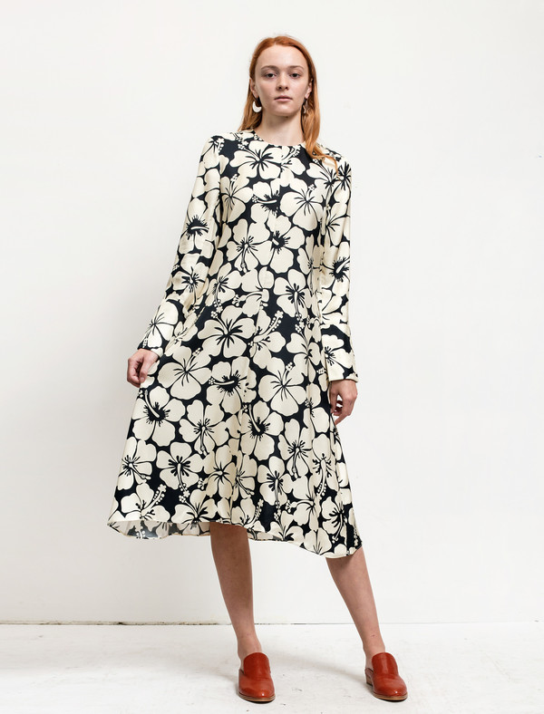 Trademark Paneled Dress Navy