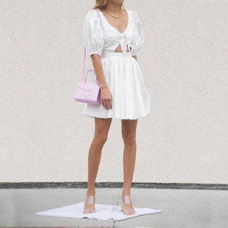 Rotate Marie Dress - white