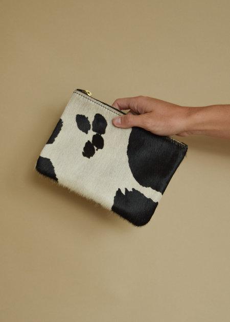 Local Shade Cowhide Zipper Pouch - Cow Print