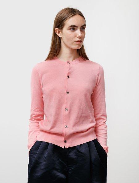 Comme des Garçons Cotton Cardigan - Sweet Pink