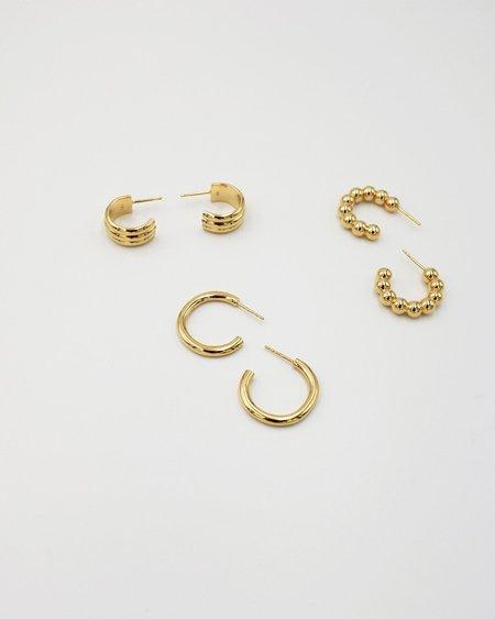IDAMARI Lamé Hoop Earrings - Gold