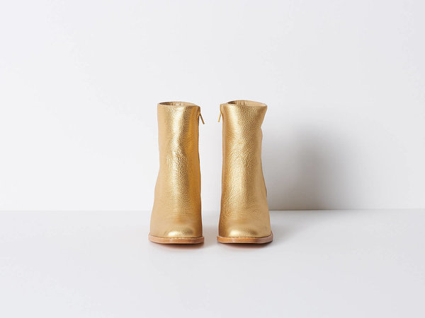 Maryam Nassir Zadeh Gold Metallic Boot