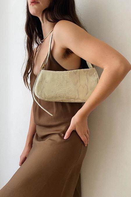 Georgia Jay Zaha Baguette Bag - Patent Butter Snake