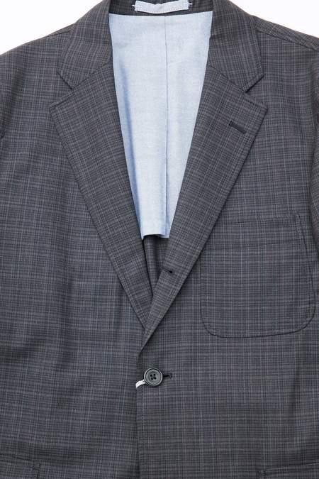 Beams Plus 3B Wool Check Jacket - Charcoal Grey