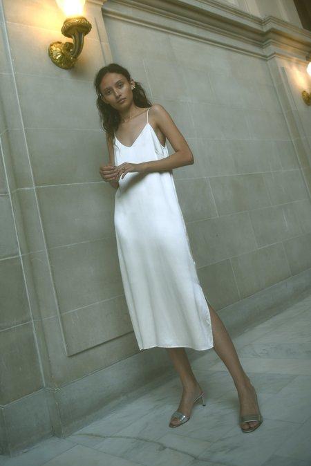 Kamperett Sade Silk Slip Dress - Ivory