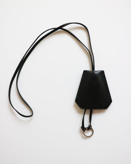 Pre-loved Hermes Leather Key Ring Strap - Black