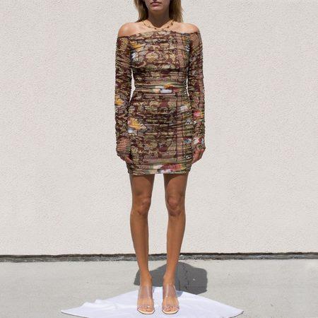 Martine Rose Romandie Ruched Dress