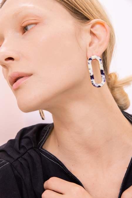 Matter Matters Marbled Oval Earrings