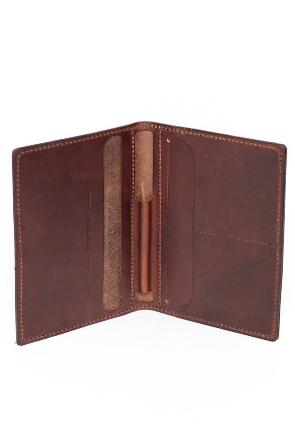 Wood & Faulk Traveler Wallet Dark Brown