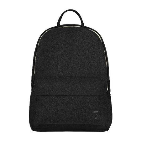 kids gray label felt backpack - nearly black