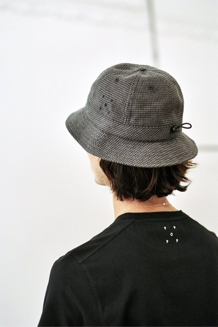 Pop Trading Company Bell Hat - Anthracite Houndstooth