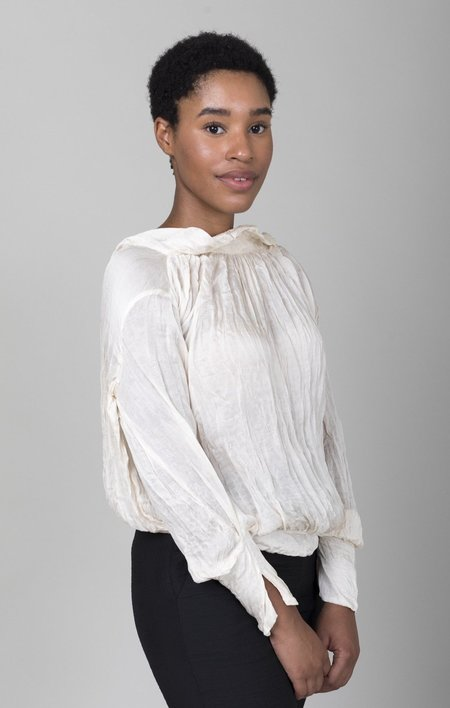 Hazel Brown Collection Bow Back Blouse - Cream