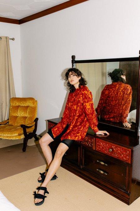 Unisex Salasai Wallpaper Shirt - Wallpaper Tan Print