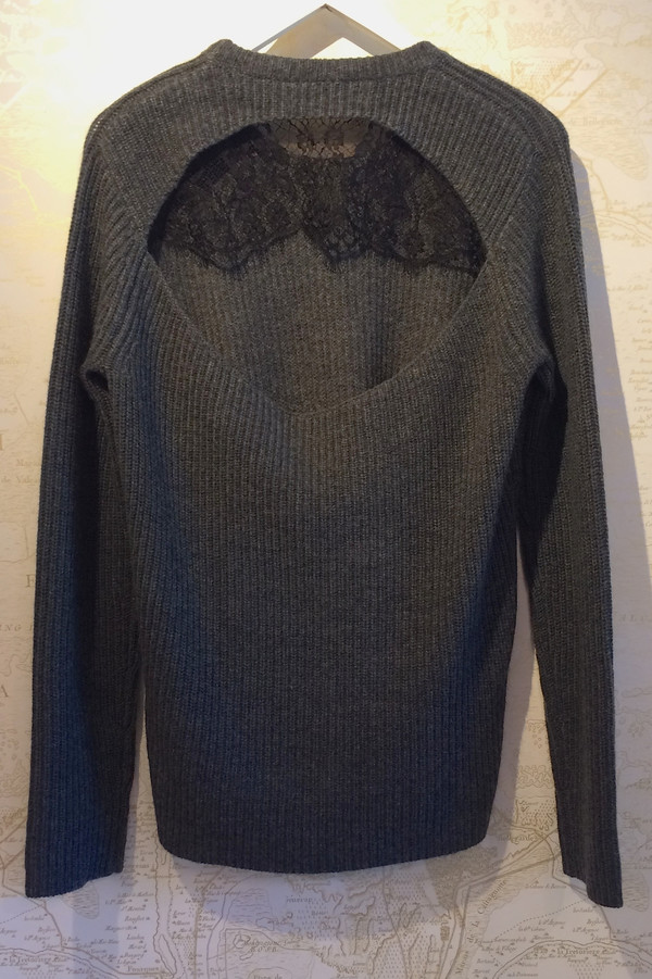 A.L.C. Lace Window Back 'Peter' Sweater