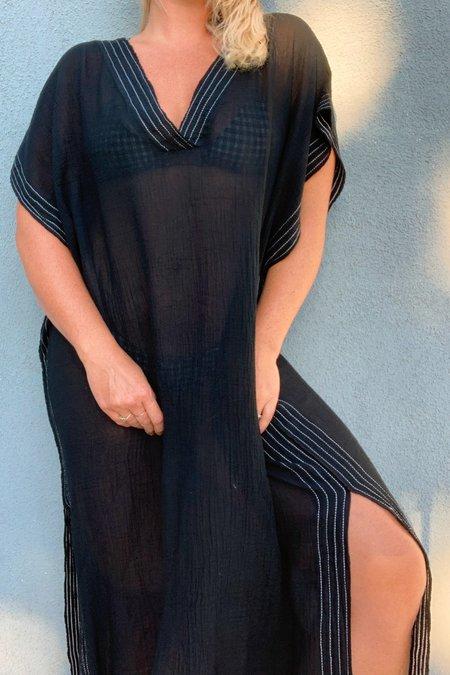 Handloom Ela Full Length Caftan - Black