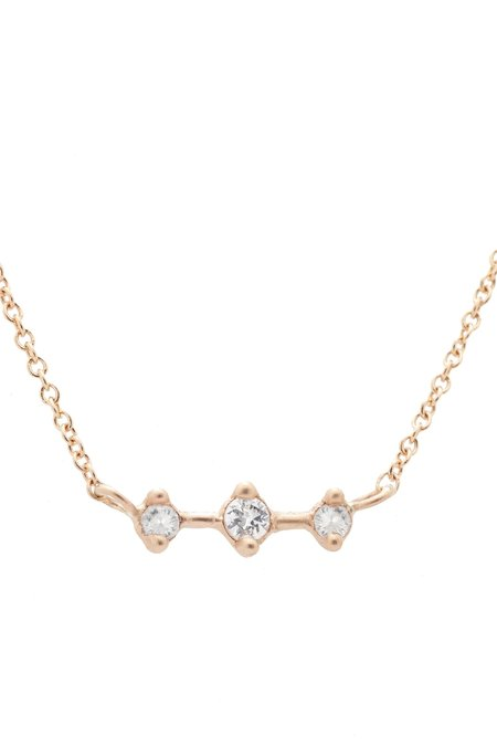 """Valley Rose Orion's Belt White Sapphire 18"""" Necklace"""