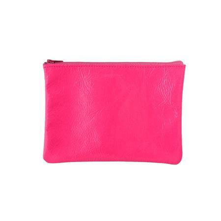 Tracey Tanner Medium Zip Pouch - Fluoro Pink Foil