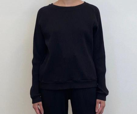 Baserange  Basic Rib Sweater - Black