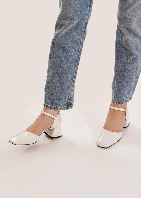 Suzanne Rae Maryjane Sandals - White