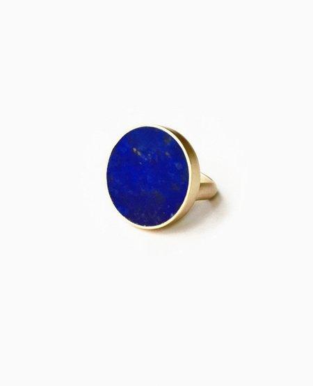 SUAI Tranche Ring - Brass / Lapis