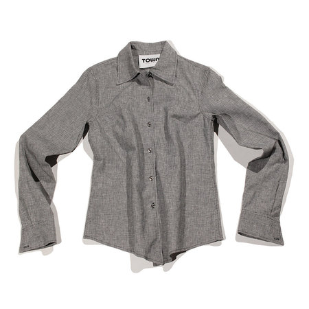 Town Clothes Mia Shirt - Onyx Houndstooth